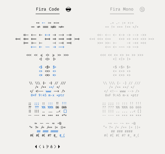 Fira Mono - An exceptional programming font, and now with